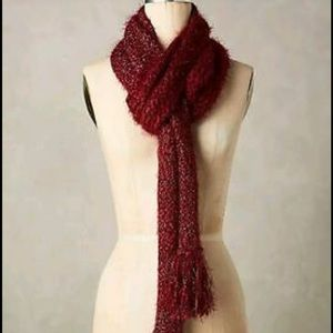 Anthropologie burgundy tinsel scarf new 🌟🌟